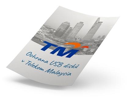 Zabezpečení USB disků v Telekom Malaysia